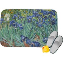 """Irises (Van Gogh) Memory Foam Bath Mat - 34""""x21"""""""