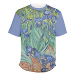 Irises (Van Gogh) Men's Crew T-Shirt
