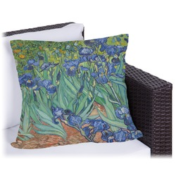 """Irises (Van Gogh) Outdoor Pillow - 18"""""""