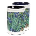 Irises (Van Gogh) Ceramic Pencil Holder - Large