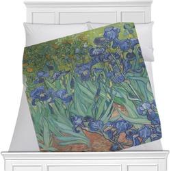 Irises (Van Gogh) Minky Blanket