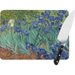 Irises (Van Gogh) Rectangular Glass Cutting Board