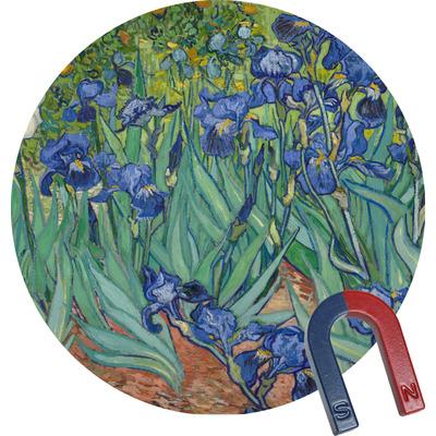 Irises (Van Gogh) Round Fridge Magnet