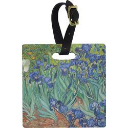 Irises (Van Gogh) Plastic Luggage Tag - Square