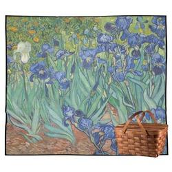 Irises (Van Gogh) Outdoor Picnic Blanket