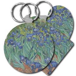 Irises (Van Gogh) Plastic Keychains