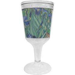 Irises (Van Gogh) Wine Tumbler - 11 oz Plastic