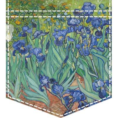 Irises (Van Gogh) Iron On Faux Pocket
