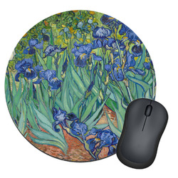 Irises (Van Gogh) Round Mouse Pad
