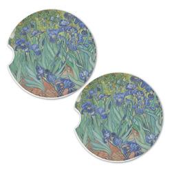 Irises (Van Gogh) Sandstone Car Coasters - Set of 2