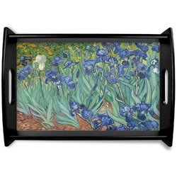 Irises (Van Gogh) Black Wooden Tray