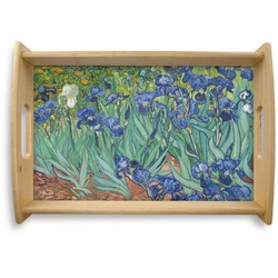Irises (Van Gogh) Natural Wooden Tray