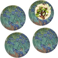"Irises (Van Gogh) Set of 4 Glass Lunch / Dinner Plate 10"""