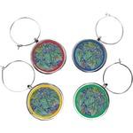 Irises (Van Gogh) Wine Charms (Set of 4)