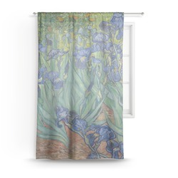 "Irises (Van Gogh) Sheer Curtain - 50""x84"""