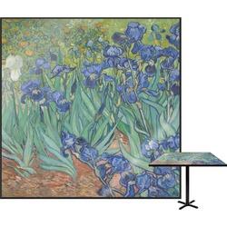 "Irises (Van Gogh) Square Table Top - 24"""