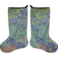 Irises (Van Gogh) Holiday Stocking - Double-Sided - Neoprene