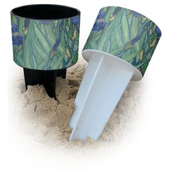 Irises (Van Gogh) Beach Spiker Drink Holder