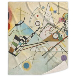 Kandinsky Composition 8 Sherpa Throw Blanket