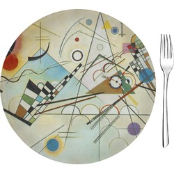 "Kandinsky Composition 8 8"" Glass Appetizer / Dessert Plates - Single or Set"