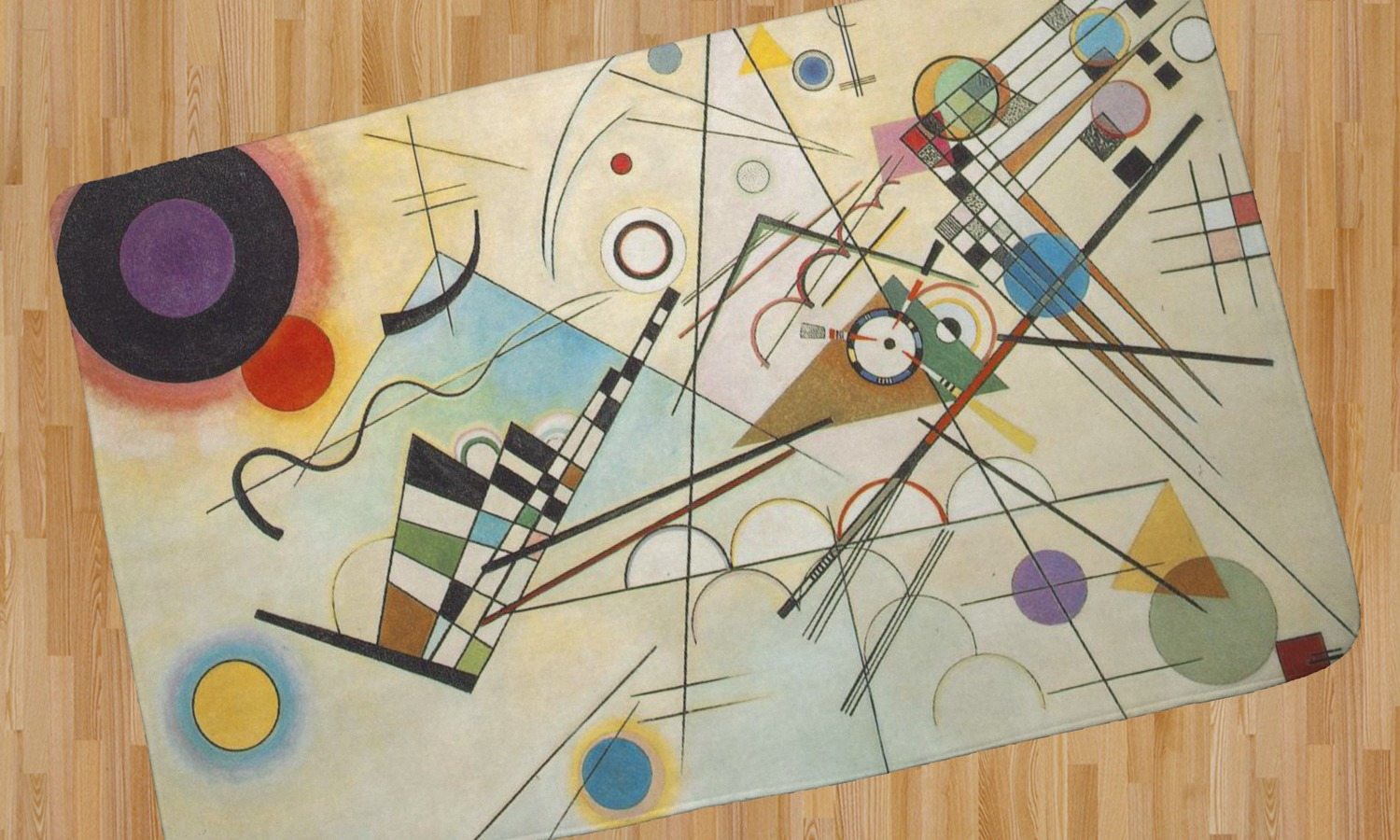 Kandinsky Composition 8 Area Rug Youcustomizeit