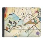 Kandinsky Composition 8 Genuine Leather Men's Bi-fold Wallet