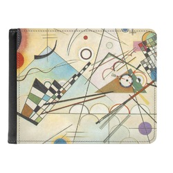 Kandinsky Composition 8 Genuine Leather Men's Bi-fold Wallet