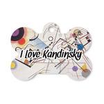 Kandinsky Composition 8 Bone Shaped Dog ID Tag