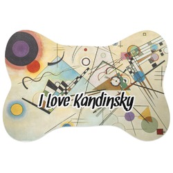 Kandinsky Composition 8 Bone Shaped Dog Food Mat