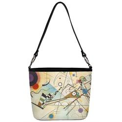 Kandinsky Composition 8 Bucket Bag w/ Genuine Leather Trim