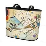 Kandinsky Composition 8 Bucket Tote w/ Genuine Leather Trim