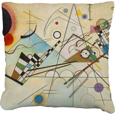 Kandinsky Composition 8 Faux-Linen Throw Pillow