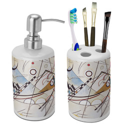Kandinsky Composition 8 Ceramic Bathroom Accessories Set