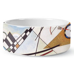 Kandinsky Composition 8 Ceramic Dog Bowl