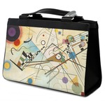 Kandinsky Composition 8 Classic Tote Purse w/ Leather Trim