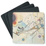 Kandinsky Composition 8 4 Square Coasters - Rubber Backed