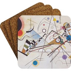 Kandinsky Composition 8 Coaster Set w/ Stand