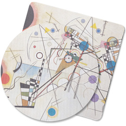 Kandinsky Composition 8 Rubber Backed Coaster