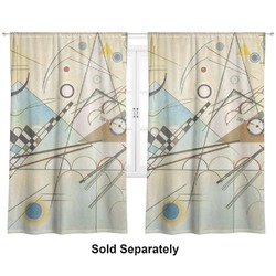 "Kandinsky Composition 8 Curtains - 20""x54"" Panels - Lined (2 Panels Per Set)"