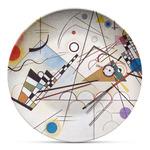 Kandinsky Composition 8 Microwave Safe Plastic Plate - Composite Polymer