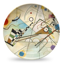 Kandinsky Composition 8 Microwave Safe Plastic Plate - Composite Polymer