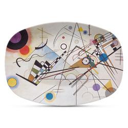 Kandinsky Composition 8 Plastic Platter - Microwave & Oven Safe Composite Polymer
