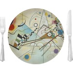 "Kandinsky Composition 8 10"" Glass Lunch / Dinner Plates - Single or Set"