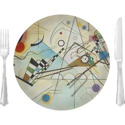 "Kandinsky Composition 8 10"" Glass Lunch / Dinner Plates - Single or Set"