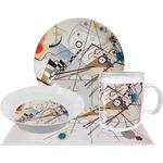 Kandinsky Composition 8 Dinner Set - 4 Pc