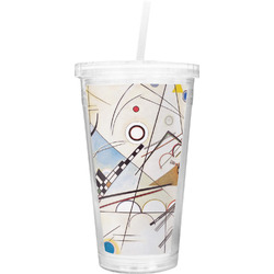 Kandinsky Composition 8 Double Wall Tumbler with Straw