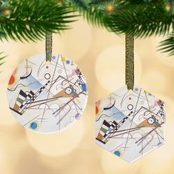Kandinsky Composition 8 Flat Glass Ornament