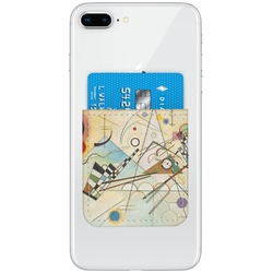 Kandinsky Composition 8 Genuine Leather Adhesive Phone Wallet
