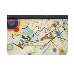 Kandinsky Composition 8 Genuine Leather ID & Card Wallet - Slim Style