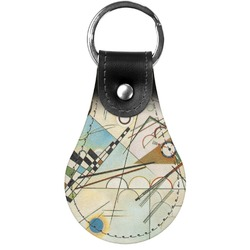 Kandinsky Composition 8 Genuine Leather  Keychains